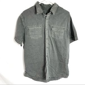 Converse grey causal button down men's large